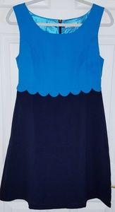 Navy & Teal blue dress